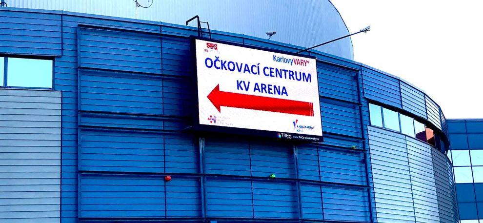 V KV Areně se otevírá očkovací centrum   Magistrát města Karlovy Vary